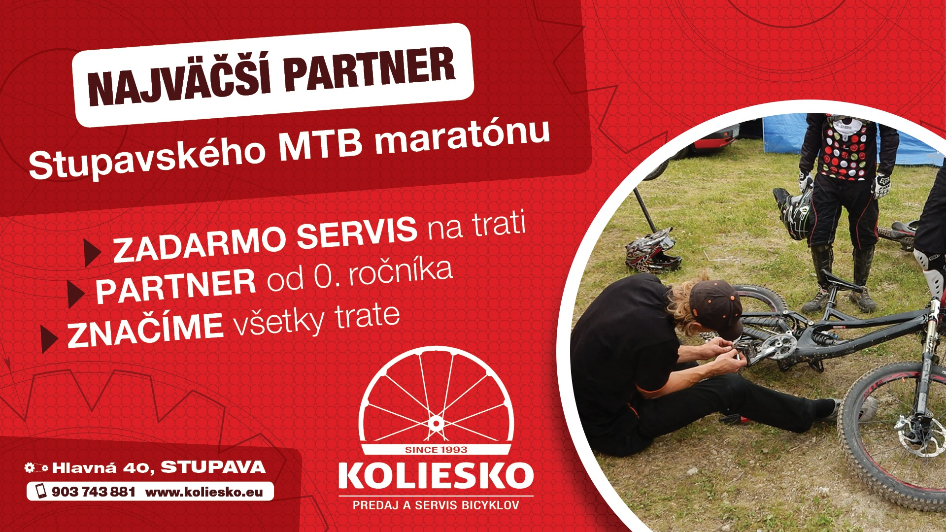 Sme hlavný partner Stupavského MTB maratónu